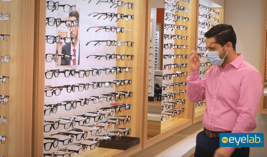 customer shopping for frames at my eyelab franchise